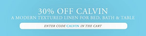 30% OFF Calvin Bedding & Decor