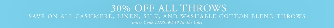 30% OFF All Throws